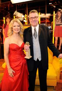 Mary Hart and Tom Wilkinson at the 66th Annual Golden Globe Awards.