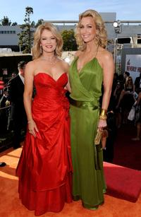Mary Hart and Lara Spencer at the 66th Annual Golden Globe Awards.