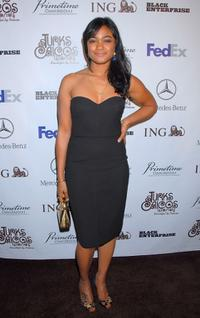Tatyana Ali at the Black Enterprises Top 50 Hollywood Power Brokers Celebration.