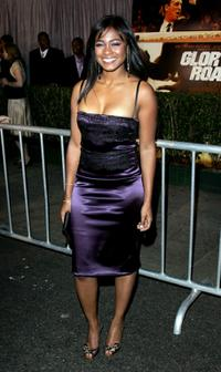 Tatyana Ali at the premiere of