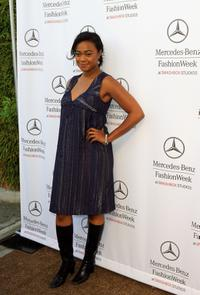 Tatyana Ali at the Mercedes Benz Fashion Week.