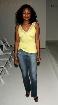 Tatyana Ali at the Rebecca Beeson Fall 2005 show.
