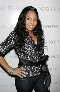 Ashanti at the Tadashi Fall 2007 fashion show.