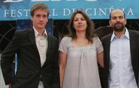 Gregoire Leprince-Ringuet, Valerie Benguigui and Marc Fitoussi at the premiere of