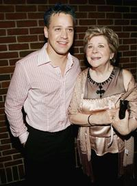 T.R. Knight and Marylouise Burke at the after party of the premiere of