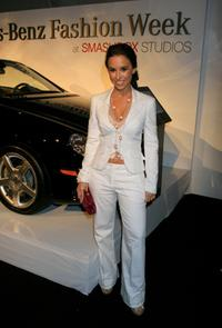 Lacey Chabert at the Mercedes-Benz Fashion Week.