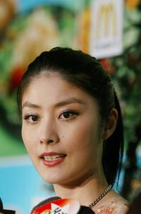 Kelly Chen at the food promotion in Hong Kong.