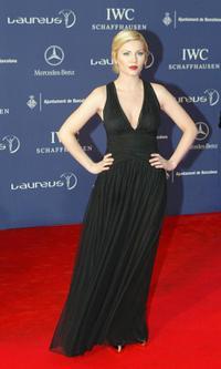 Elisha Cuthbert at the gala evening during the Laureus Sports awards.