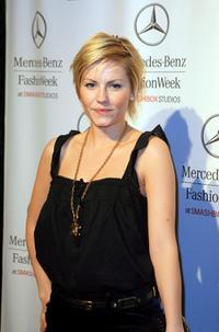 Elisha Cuthbert at the Mercedes Benz Fashion Week.