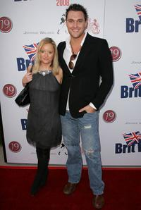 Lucy Davis and Owain Yeoman at the launch party of BritWeek.