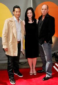 Miguel Ferrer, Yun Lee and Michelle Ryan at the NBC Upfronts at Radio City Music Hall.