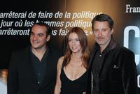 Francois-Xavier Demaison, Lea Drucker and Antoine Decaunes at the screening of