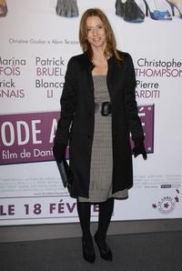 Lea Drucker at the Paris premiere of