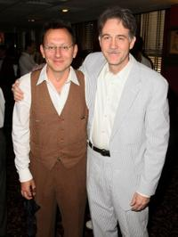 Michael Emerson and Boyd Gaines at the unveiling of Boyd Gaines Sardi's portrait.