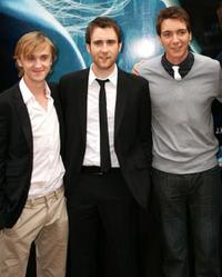 Tom Felton, Matthew Lewis and James Phelps at the photocall of