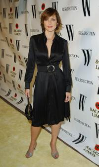 Lola Glaudini at the W Magazine & Resurrection with Bacardi Limon tribute to vintage couture.