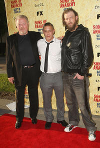 William Lucking, Theo Rossi and Ryan Hurst at the season two premiere of