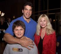 Lou Ferrigno, his wife Carla and son Brent at the premiere of