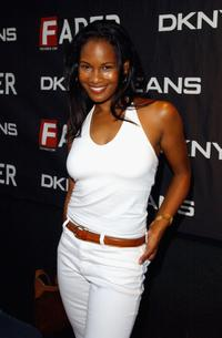 Robinne Lee at the celebrity-filled Duran Duran gig.