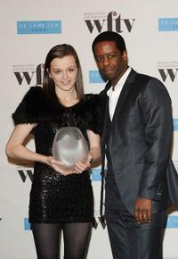 Katie Jarvis and Adrian Lester at the Women In Film And TV Awards.
