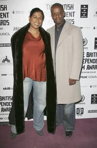 Lolita Chakrabarti and her husband Adrian Lester at the British Independent Film Awards.