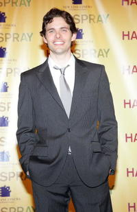 "James Marsden at a photocall for the movie ""Hairspray"" in Las Vegas, Nevada."