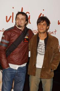 Fele Martinez and Gael Garcia Bernal at the premiere of