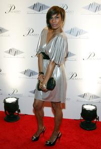 Chenoa Maxwell at the opening of Jay-Z's USD 20 million 40/40 Club.
