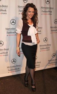 Dina Meyer at the Spring 2009 Mercedes-Benz Fashion Week.