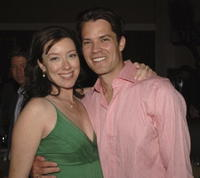 Molly Parker and Timothy Olyphant at the after party of the premiere of