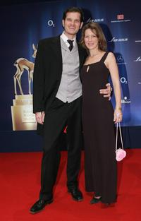 Gotz Otto and Sabine Louys at the Bambi Awards 2005.