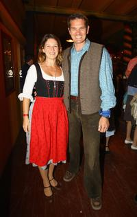 Sabine Louys and Gotz Otto at the Oktoberfest beer Festival.