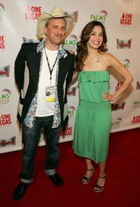 Bob Goldthwait and Gina Philips at the CineVegas film festival.