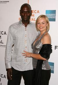 Lance Reddick and Beyonce Christina York at the premiere of