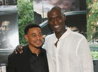 Corey Parker-Robinson and Lance Reddick at the premiere of