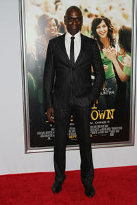 Lance Reddick at the New York premiere of