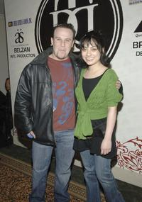 Jed Rhein and Gia Sun at the Luxe Wear Fall/Winter Fashion Show.