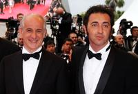 Toni Servillo and director Paolo Sorrentino at the Palme d'Or Closing Ceremony during the 61st International Cannes Film Festival.