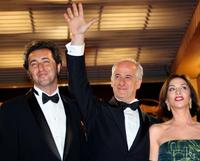 Director Paolo Sorrentino, Toni Servillo and Anna Bonaiuto at the screening of