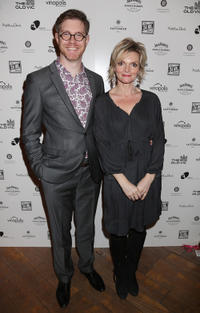 Grant Olding and Sharon Small at the Old Vic's 24 Hour Musicals Celebrity Gala 2012.