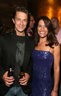 Peter Stebbings and Vanessa Parise at the after party of the premiere of