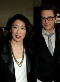 Sandra Oh and Peter Stebbings at the premiere of
