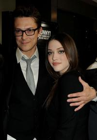Peter Stebbings and Kat Dennings at the premiere of