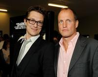 Peter Stebbings and Woody Harrelson at the premiere of