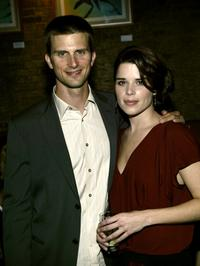 Frederick Weller and Neve Campbell at the Hamptons Magazine after party of the premiere of