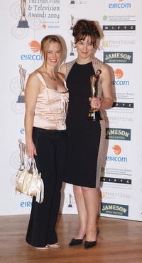 Tanya Nagle and Olivia Williams at the Irish Film and Televison Awards.