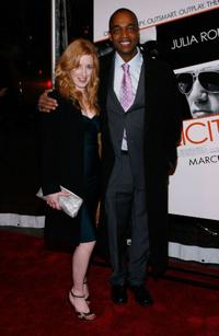 Rick Worthy and Guest at the premiere of