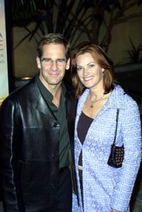 Scott Bakula and his wife Chelsea Field at the premiere of
