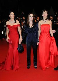 Monica Bellucci, Marina de Van and Sophie Marceau at the premiere of