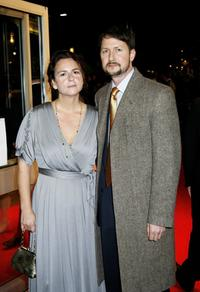 Todd Field and his guest at the Times BFI 50th London Film Festival screening of